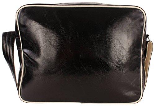 Bolsa de hombro negro / color crudo Classic de Fred Perry