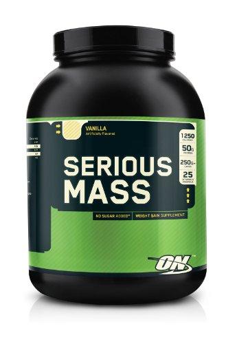 OPTIMUM NUTRITION Serious Mass Gainer Protein Powder, Vanilla, 3 Pound