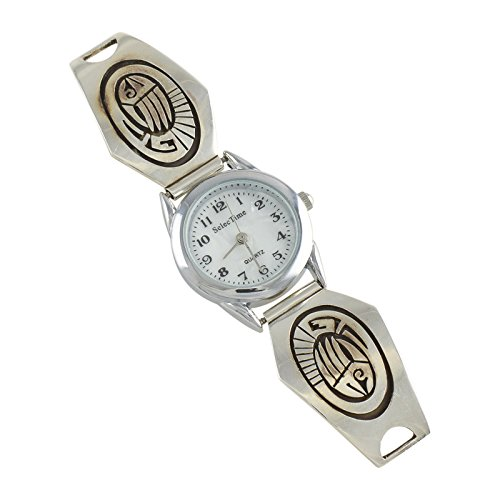 Sterling Silver Overlay Ladies Watch Navajo Native American Jewelry