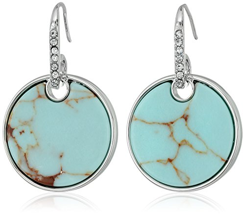 t-tahari-stone-disc-silver-drop-earrings