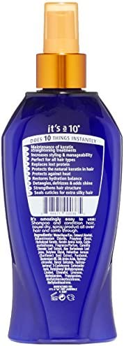 It s a 10 Haircare Miracle Leave-In Plus Keratin, 10 Fl. Oz Pack of 1