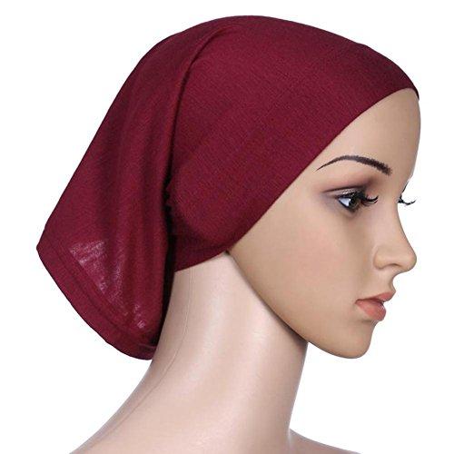 Daxin 20 Colors Under Scarf Hijab Tube Bonnet Bone Chemo Hat Lycar ()