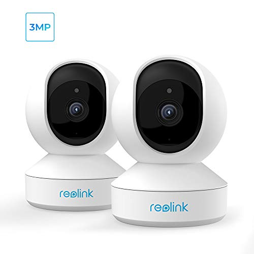 3MP Pan Tilt Indoor Wireless Security Camera System, 2.4Ghz WiFi Baby Monitor Home Camera with Night Vision, 2-Way Audio, Works...