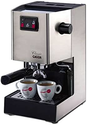 Gaggia Classic, Acero inoxidable, 1425 W, 230 MB/s, 230 x 240 x 380 mm, 8000 g - Máquina de café, Plateado