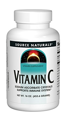 Source Naturals Vitamin C Sodium Ascorbate Crystals Powerful Antioxidant Assists In The Formation of Collagen, Helps Reduce Effects of Aging, Supports Immune System & Improves Skin Health - Highest Quality, Pure Form Vitamin C Supplement - 16 Ounces