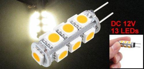 Amazon.com: eDealMax G4 13 SMD LED Blanco cálido 5050 del Barco del coche de la lámpara Marina bombilla 12V DC: Automotive