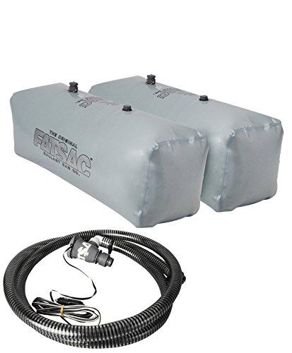 Fly High V-Drive Sacs w/ Tsunami Pump- Wakeboard Wakesurf Ballast Package- 800 to 1000 lbs