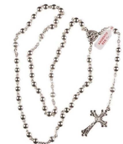 Devotional Gifts UK Holy Communion Gift. First Holy Communion Sterling Silver Rosary Beads. ()