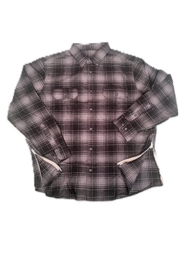 Grey/Black Fear of God Inspired Flannel w/ Side Zippers