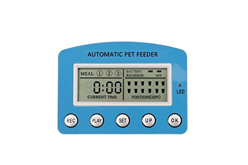 DecoStain Programmable Automative Pet Feeder for Cat,Dog,Rabbit and other Small Animals with Voice Reminding.Dual Power Supply,LCD Display (Capacity 5L) by DecoStain (Image #3)