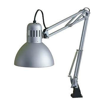 Ikea Tertial Arbeitsleuchte In Silberfarben Amazonde Küche Haushalt