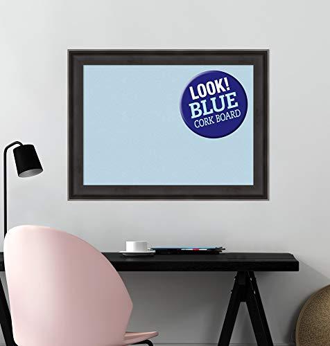 Amanti Art Blue Cork Allure Charcoal Framed Bulletin Boards by Amanti Art (Image #4)
