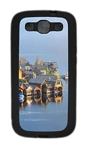 Austrian LAndscape TPU Case Cover for Samsung Galaxy S3 and Samsung Galaxy I9300 Black
