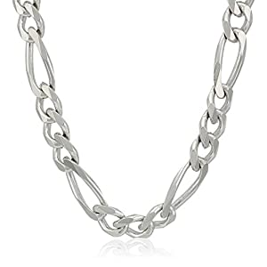 Best Epic Trends 41rJY1-9tQL._SS300_ Men's Sterling Silver Italian Solid Figaro Link-Chain Necklace