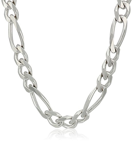 Men's Sterling Silver Italian 5.5mm Solid Figaro Link Chain Necklace, 20