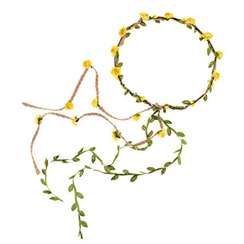 DDazzling Flower Crown Floral Wreath Headband Floral Garland