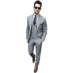 Lilis® Men's Slim Fit Classic 2 Button 3 Piece Business Farmal Suit Set Custom Made