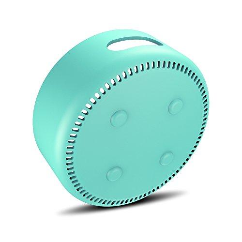 (AWINNER Silicone Case for Amazon Echo Dot 2nd (Cyan))