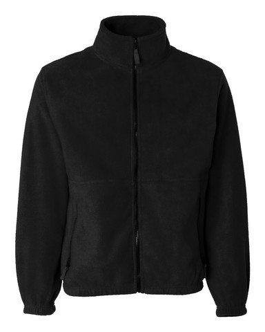 Sierra Pacific Adult Poly Fleece Full Zip Jacket, Black, XX-Large