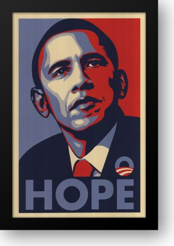 RARE Obama Campaign Poster - HOPE 15x21 Framed Art Print by Fairey, Shepard ()