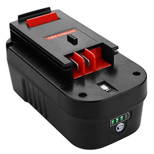 Energup Upgraded 18V 3000mAh Replacement Battery for Black Decker 18V HPB18 HPB18-OPE 244760-00 A1718 FS18FL FSB18 Firestorm Black and Decker 18 Volt Battery