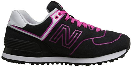 New Balance - WL574 NEN - Coleur: Noir-Rose-Violet - Taille: 36.5