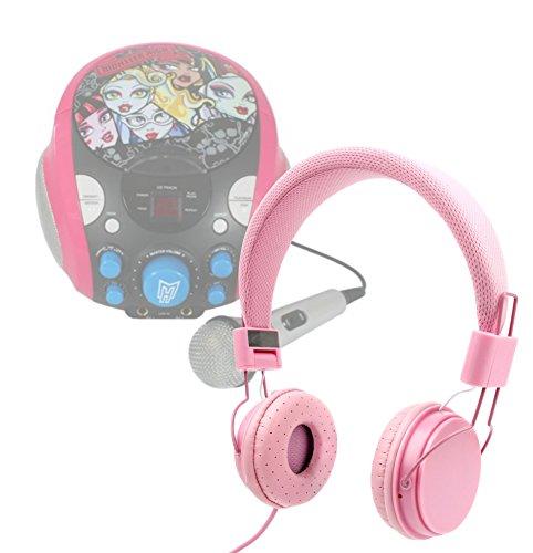 Price comparison product image DURAGADGET Pretty Pink Ultra-Stylish Kids Matching Fashion Headphones For Monster High Portable CDG Karaoke Machine