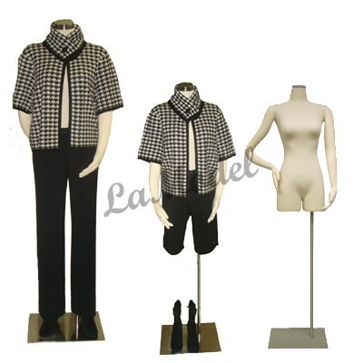 Female Half Body Dress Form Mannequin with Bendable Arms