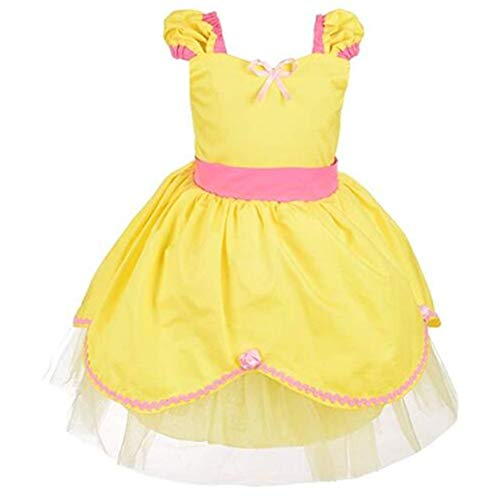 Girls'Princess Belle Costumes Princess Dress Up Halloween Costume ()