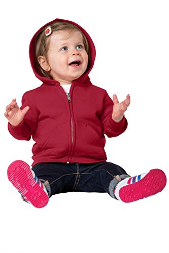Precious Cargo unisex-baby Full Zip Hooded Sweatshirt 18M Red