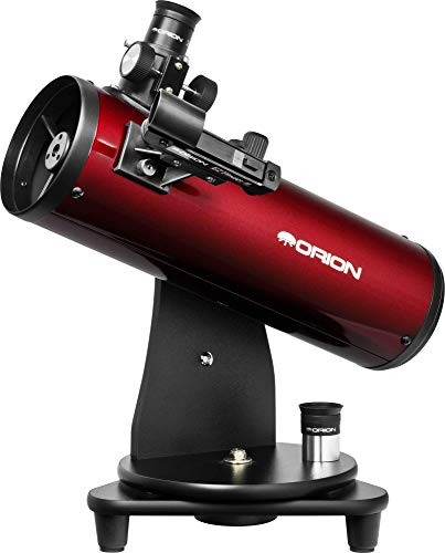 Orion 10012 SkyScanner 100mm TableTop Reflector Telescope (Burgundy)