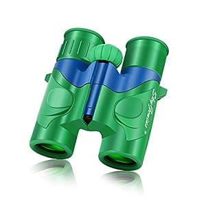 SkyGenius Binoculars for Kids, Mini Binoculars Boys for Bird Watching, Real Optics High Resolution Small Binoculars for…