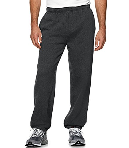 Elastic Cuff Pants (Mens Heavyweight Sweatpants(M, Charcoal))