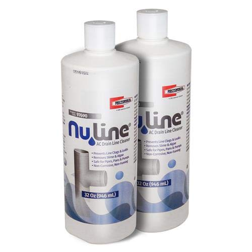 Fast Shipping! (2) Pack NuLine HVAC Condensate Drain Nu-Line Cleaner, 32 Ounce