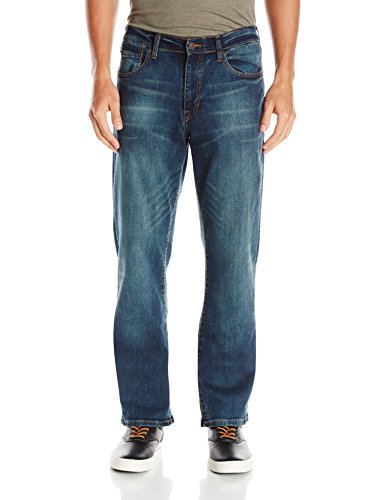 Izod Men's Comfort Stretch Relaxed Fit Jean,40x30,Lexington (Waist Jeans Below)