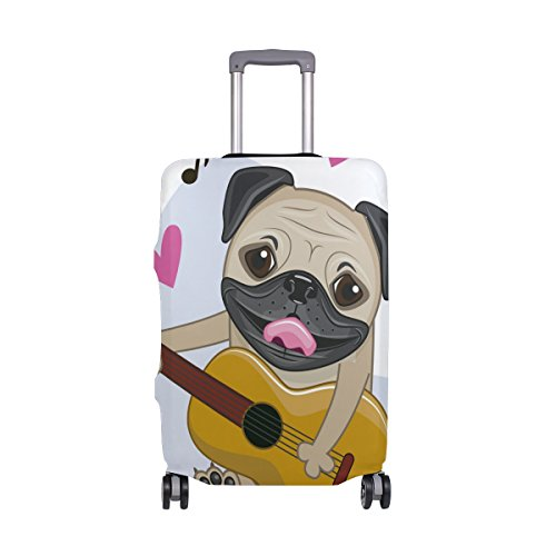 Cute Dog Puppy Music Hearts Love Suitcase Luggage Cover Protector for Travel Kids Men Women by ALAZA (Image #7)'