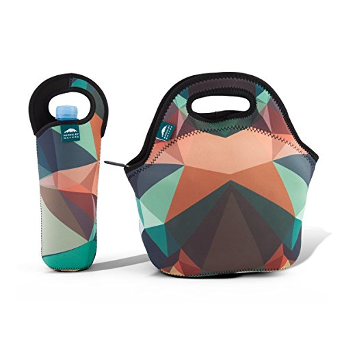 Insulated Neoprene Lunch Bag Tote | Includes 12