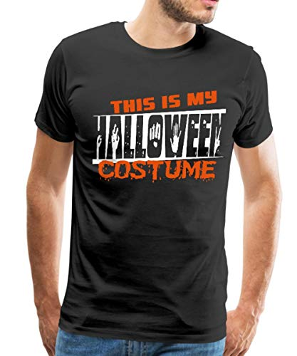 Spreadshirt This is My Halloween Costume Men's Premium T-Shirt, 4XL, Black -