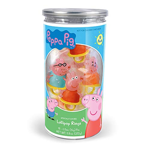Peppa Pig Lollipop Rings Birthday Party Favors -