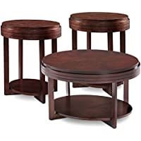 Leick 10100-CH Oval Condo/Apartment Coffee Table and Two End Tables (3 Pack)