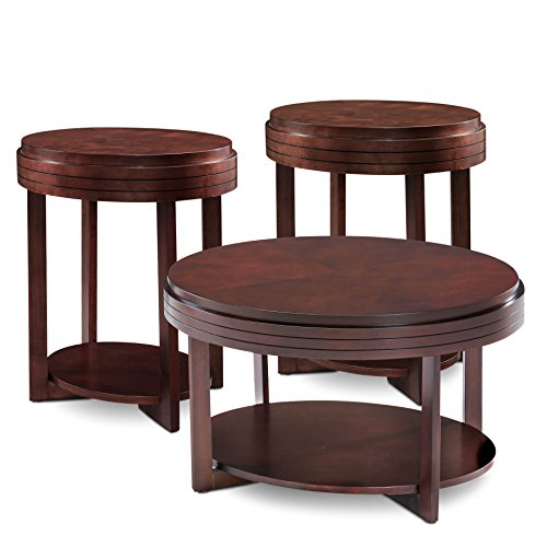oval coffee table set of 3 - 2