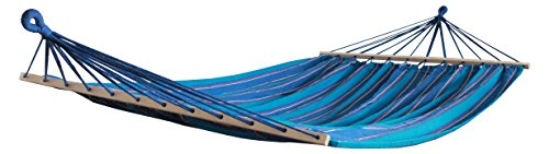Hammaka Woven 2 Person Hammock, Blue - No assembly (just hang) 330 lb. weight capacity Manufacturers Warranty - patio-furniture, patio, hammocks - 41rJcddhF%2BL -