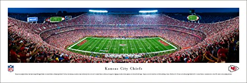 Kansas City Chiefs Night Game - Blakeway Panoramas Unframed NFL Print (Stadium Arrowhead)