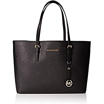 53bd5f18a9cae5 MICHAEL Michael Kors Women's Jet Set Medium Travel Multifunction Tote, Black