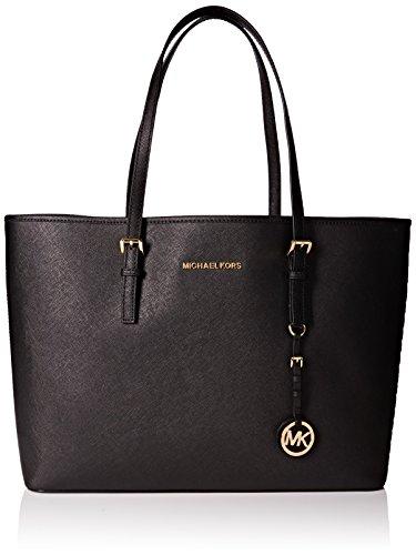 Bolsa de viaje MICHAEL Michael Kors para mujer, bolso de viaje multifunción de viaje mediano, negro