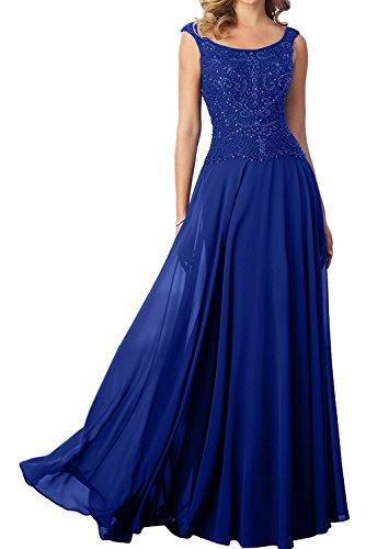 Abendkleider Marie Royal Hundkragen Damen La Blau Lang Perlen Promkleider Rosa Brautmutterkleider Braut A1wHWTq7