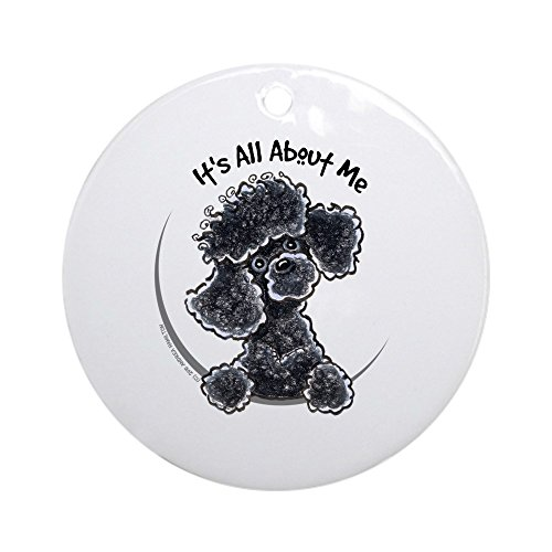 CafePress Black Poodle Lover Ornament (Round) Round Holiday Christmas Ornament