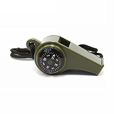 3 in1 Outdoor Camping Hiking Emergency Survival Gear Whistle Compass Thermometer