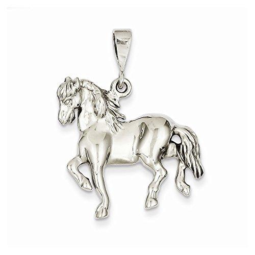 Qg 14k Charm Bracelet (14k White Gold Horse Charm (25 x 33 mm))