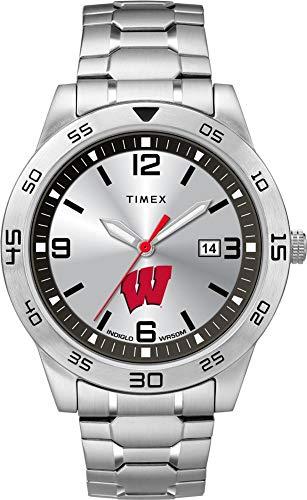 Timex Men's University of Wisconsin Badgers Watch Citation Steel Watch (Team Badgers Wisconsin Watch)